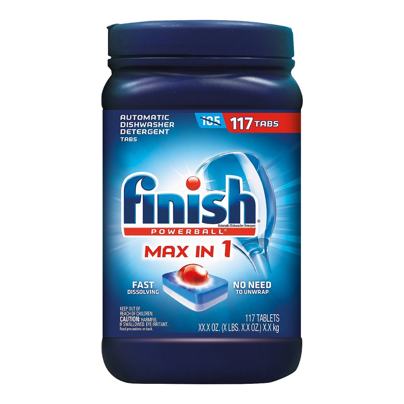Finish Powerball Max In 1 Automatic Dishwasher Detergent Tabs, 117 Count