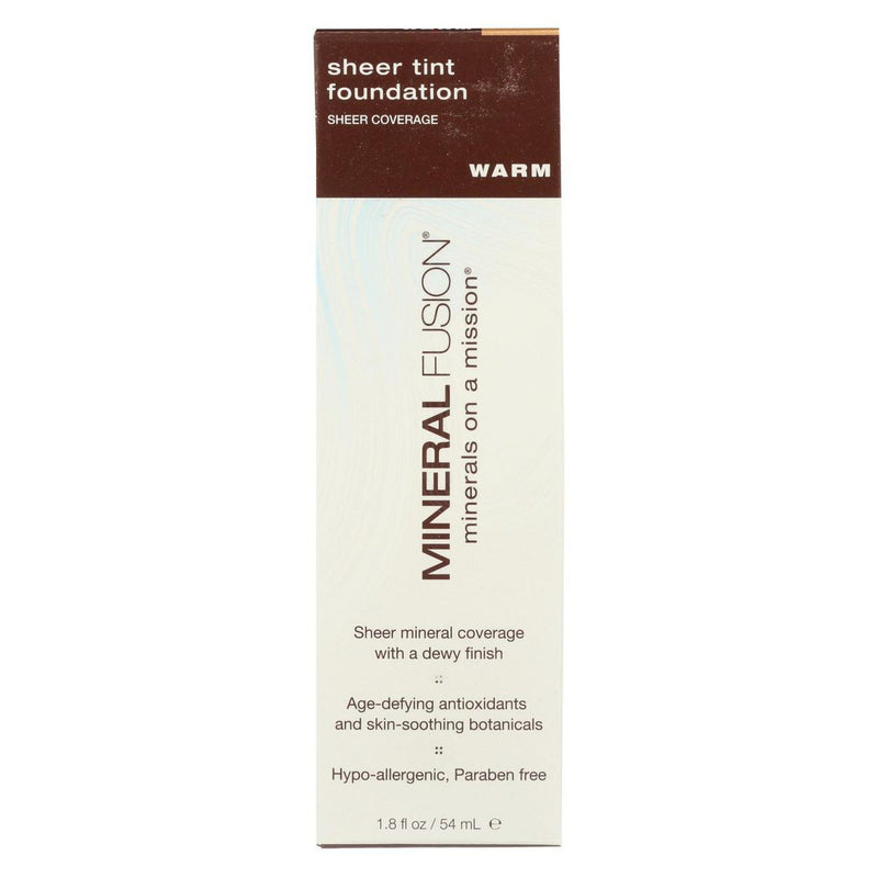 Mineral Fusion Sheer Tint Foundation, Warm, 1.8 Ounce