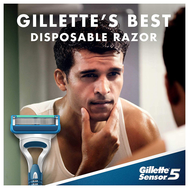 Gillette Sensor 5 Disposable Razors For Men, 3 Count, Mens Razors/Blades