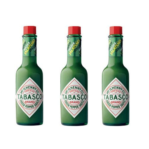 Tabasco Green Pepper Sauce, 2 Oz, 3 Pack