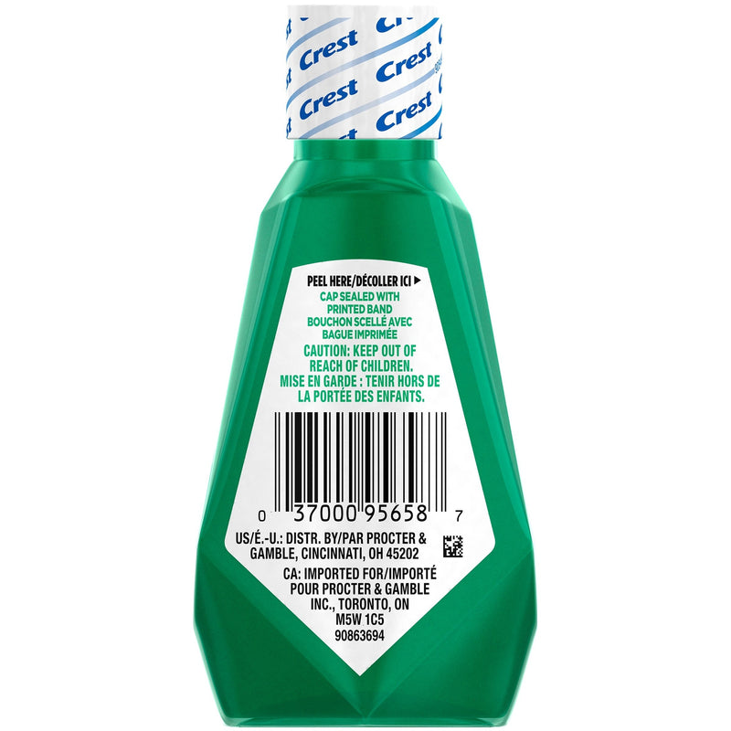 Crest Scope Outlast Travel Size Mouthwash, Mint Flavored, 1.2 Fluid Ounces, 6 Pack