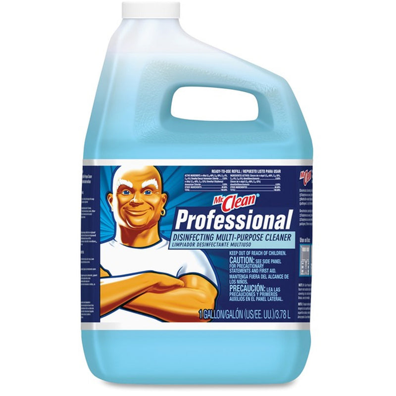 Mr. Clean Professional Disinfecting Multi-Purpose Cleaner Ready-To-Use Liquid, 128 oz, Blue