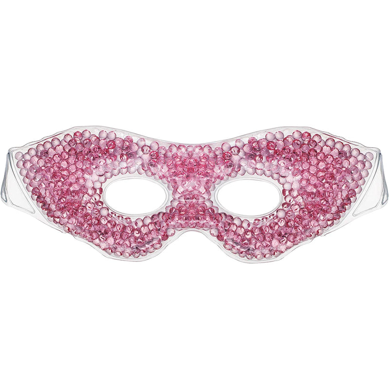 Eye See Gel Eye Mask, Pink - Cold Compress Ice Pack with Gel Beads - Microwave Safe for Heat Therapy - Great for Puffy Eyes, Dark Circles, Dry Eyes, Soothing Headaches