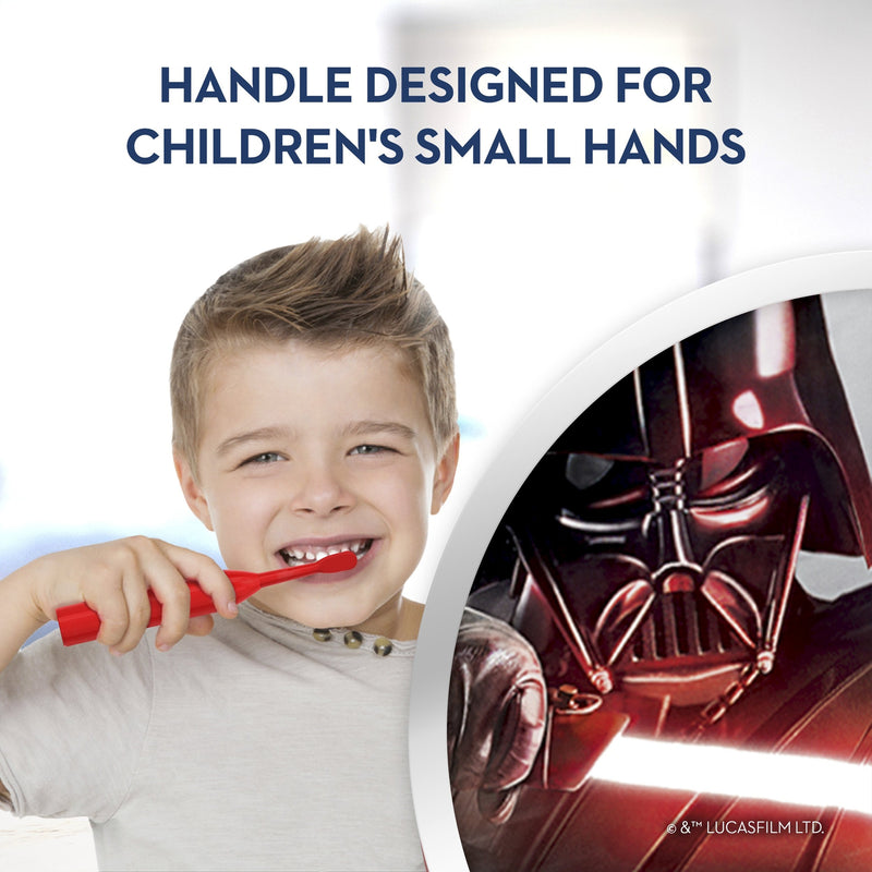 Oral-B Kid's Disney Star Wars Electric Battery Extra Soft Bristles Toothbrush, Red