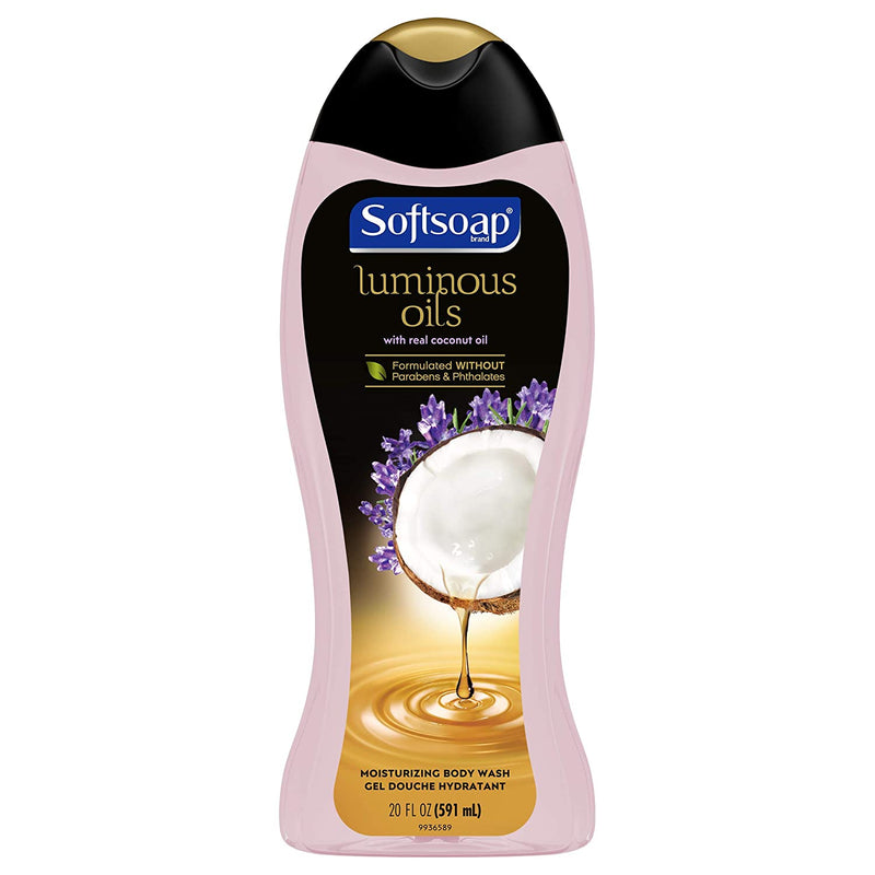 Softsoap Luminous Oils Moisturizing Body Wash, Coconut Oil & Lavender, 20 Fluid Ounces, 2 Pack