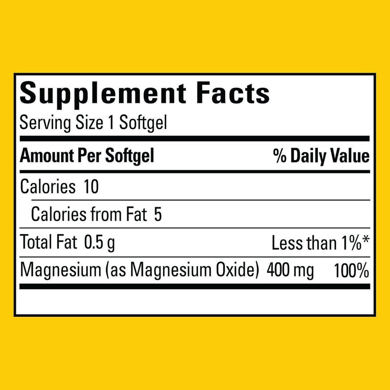 Nature Made Hi-Potency Extra Strength Magnesium Dietary Supplement Softgets, 400mg, 150 Count