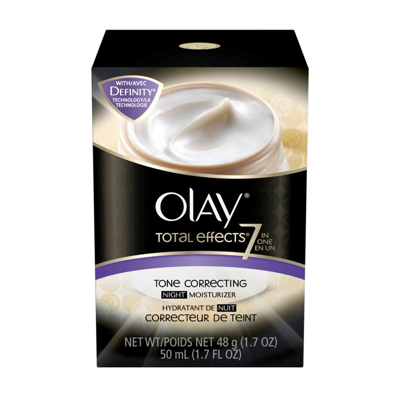 Olay Total Effects Night Face Moisturizer 7in1 Tone Correcting Cream - 1.7fl.oz jar