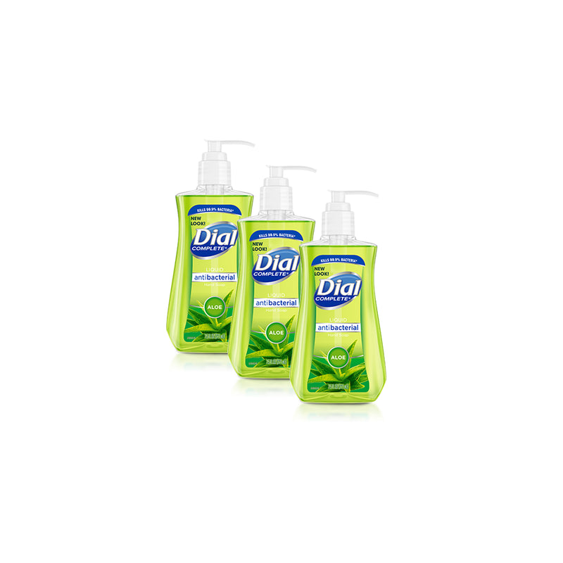 Dial Antibacterial Liquid Hand Soap with Moisturizer Aloe 7.5 oz, 3 Pack