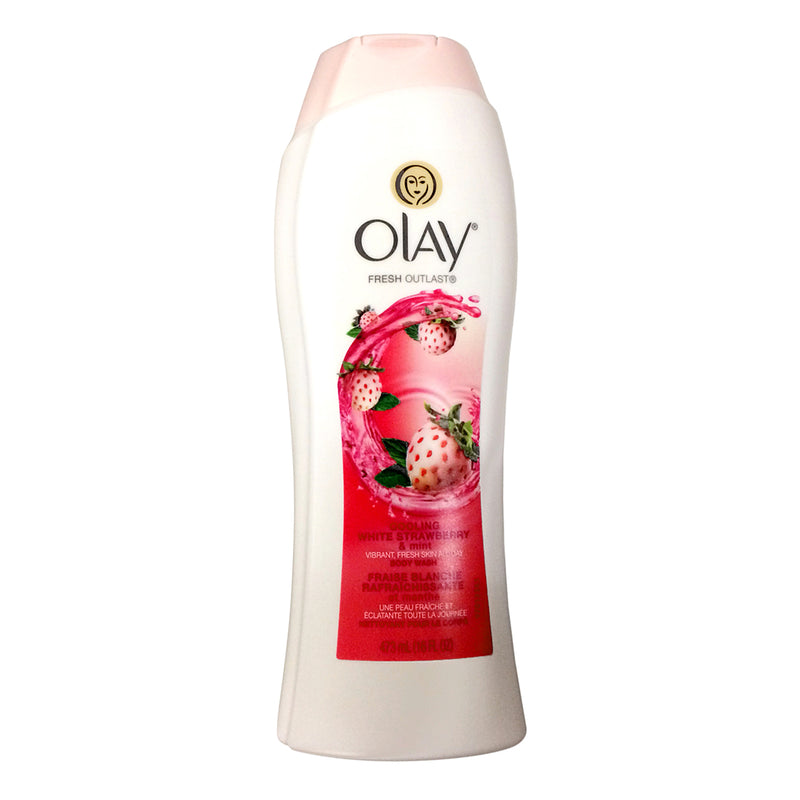 Olay Fresh Outlast Body Wash Cooling White Strawberry & Mint 16oz bottle