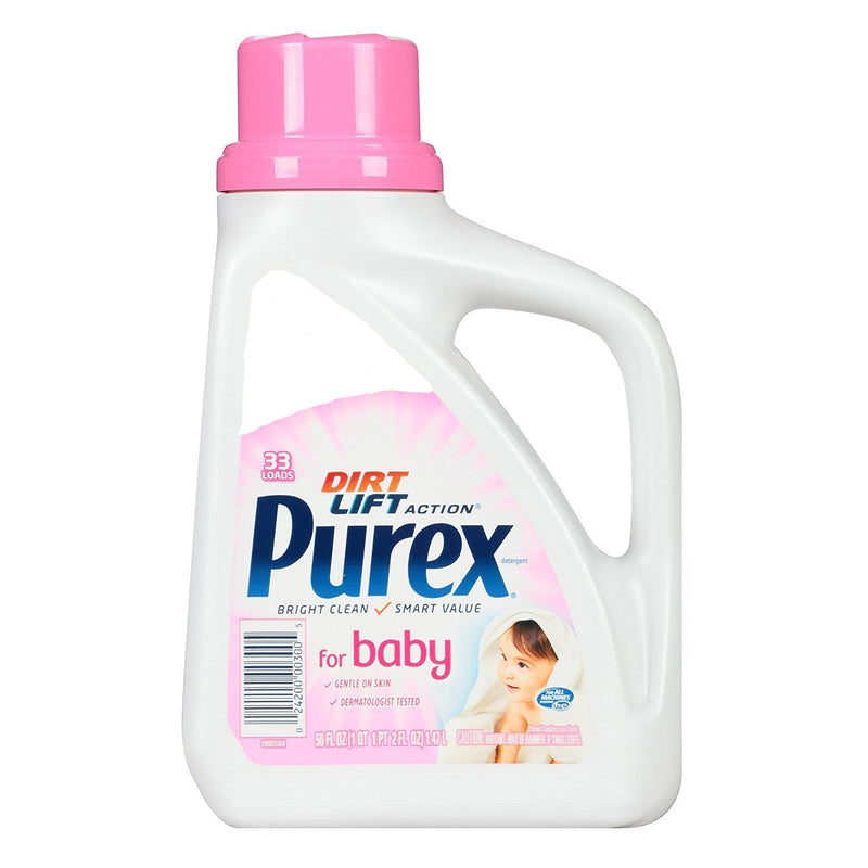 Purex Dirt Lift Action Toddler Baby Laundry Detergent 50 fl oz, 33 Loads