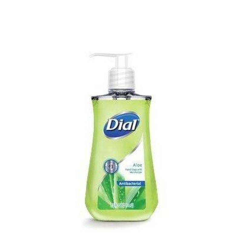 Dial Antibacterial Aloe Liquid Hand Soap 7.5 Oz, 6 Pack