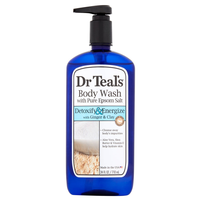 Dr. Teal's Pure Epsom Salt Body Wash, Detox & Energize, 24 fl oz