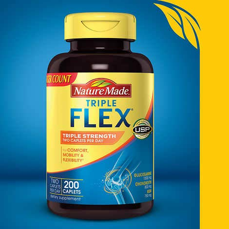 Nature Made Triple Flex Triple Strength Joint Support Formula, 200 Caplets