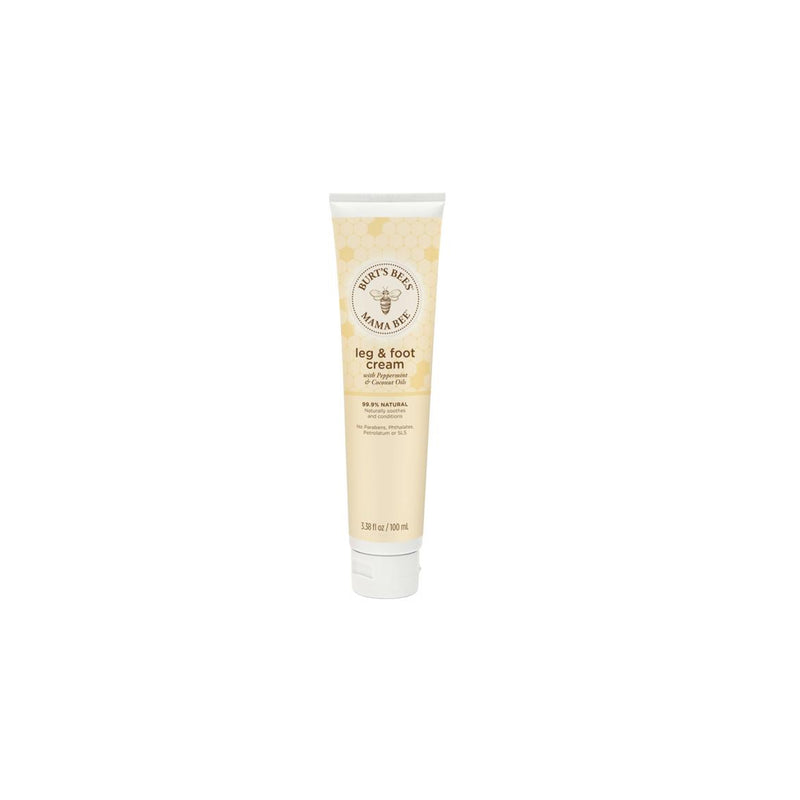 Burt's Bees Mama Bee Leg & Foot Cream with Peppermint & Coconut Oils, 3.38 oz