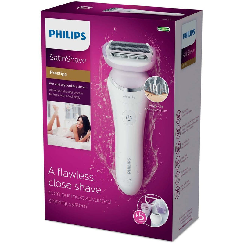 Philips Satin Shave Prestige Women's Electric Shaver, Cordless Hair Removal with Trimmer, BRL170/50