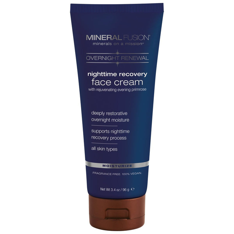 MINERAL FUSION Overnight Renewal Nighttime Recovery Face Cream, 3.4 Ounce