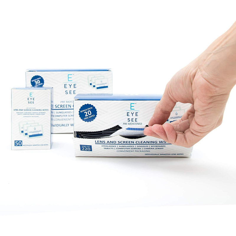 Eye See Lens and Screen Cleaning Wipes - 50 Wipes