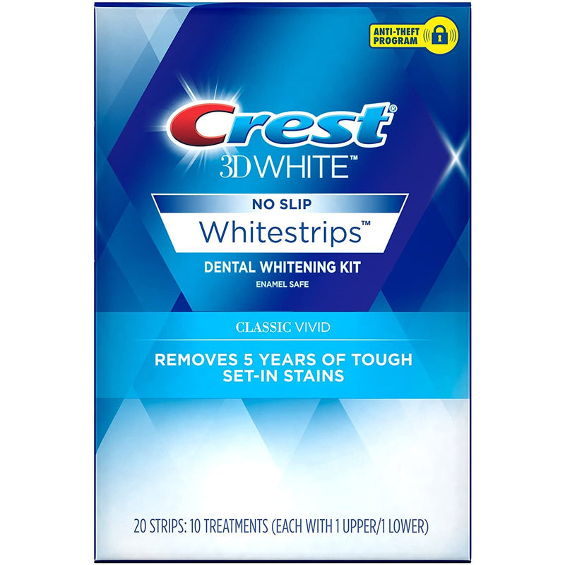 Crest 3D White Whitestrips Classic Vivid Teeth Whitening Kit (Packaging May Vary)