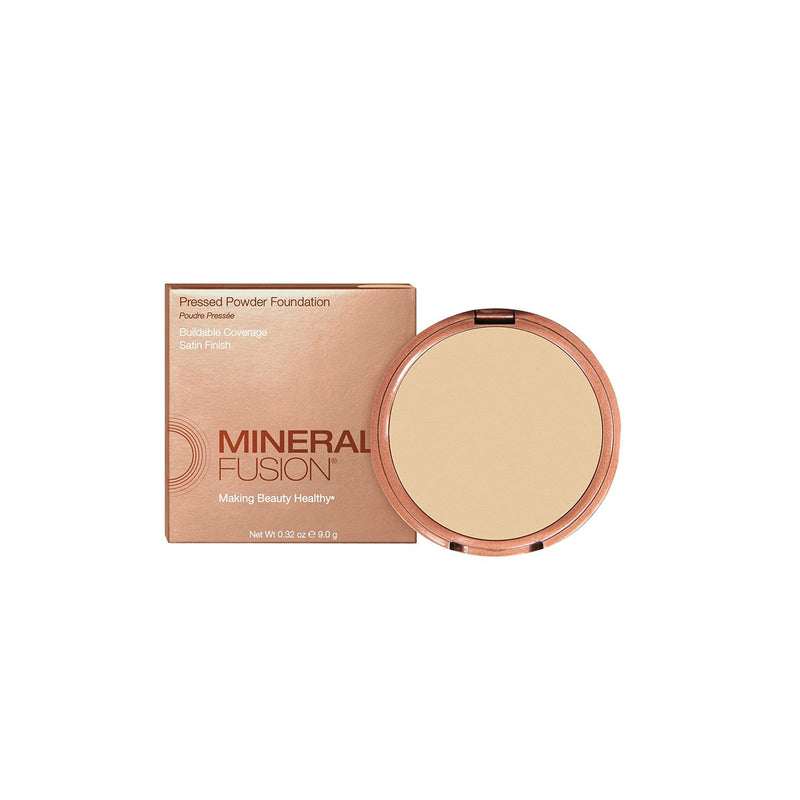 Mineral Fusion Pressed Powder Foundation, Olive 1, 0.32 oz