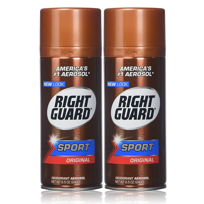 Right Guard Sport Original Deodorant Aerosol Spray, 8.5 Oz, 2 Count