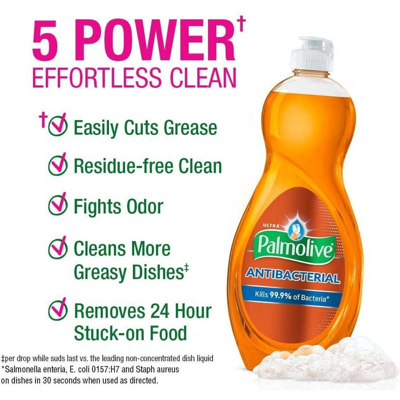 Palmolive Ultra Dish Orange Antibacterial Dish Soap, 10 oz