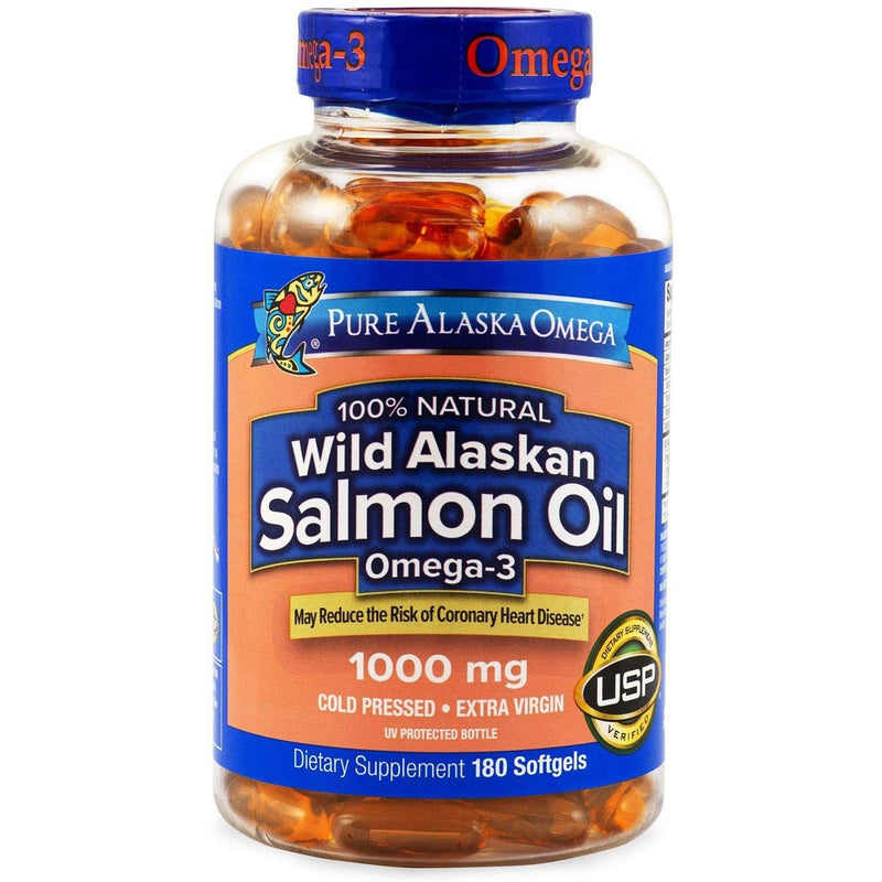 Expect More Wild Alaskan Salmon Oil Softgels 1000 mg, 180 Count