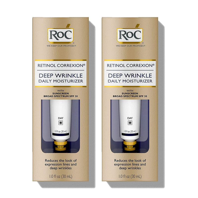 RoC Retinol SPF30 Correxion Deep Wrinkle Daily Moisturizer 1 oz (Pack of 2)