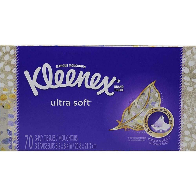 Kleenex Ultra Soft Facial Tissues,70 Count, 5 Pack (Total 350 Count)