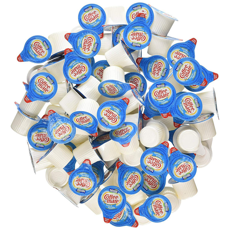 Nestle Coffee-Mate Liquid Creamer Singles, French Vanilla, 180 Count