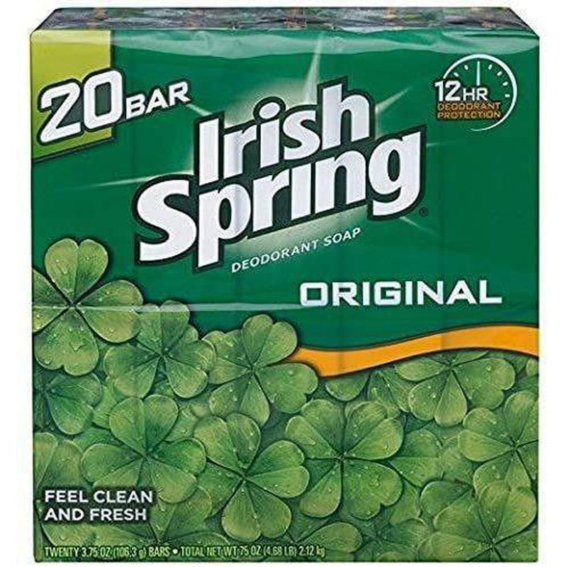 Irish Spring Deodorant Soap Original Scent, 20 Count