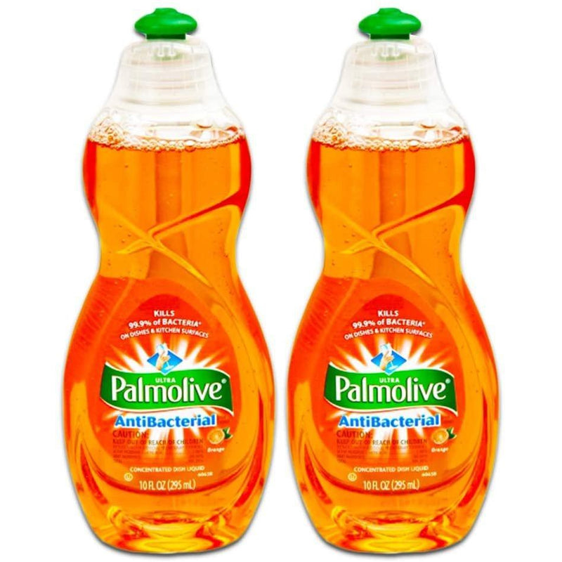 Palmolive Ultra Antibacterial Orange Dish Washing Liquid, 10 oz, 2 pack