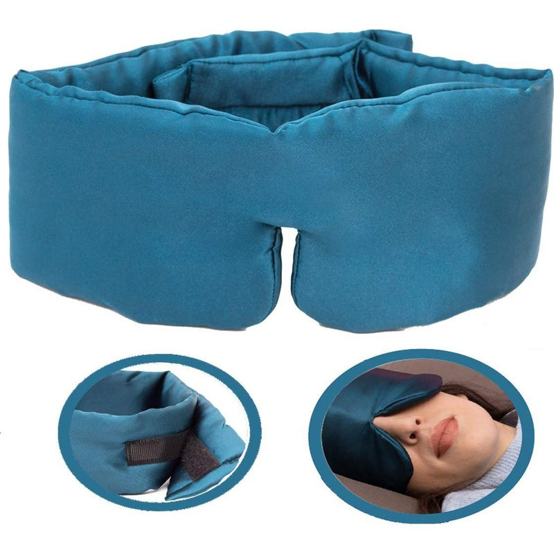 Eye See Satin Sleep Mask for Women and Men with Adjustable Strap, Comfortable, Blocks All Light