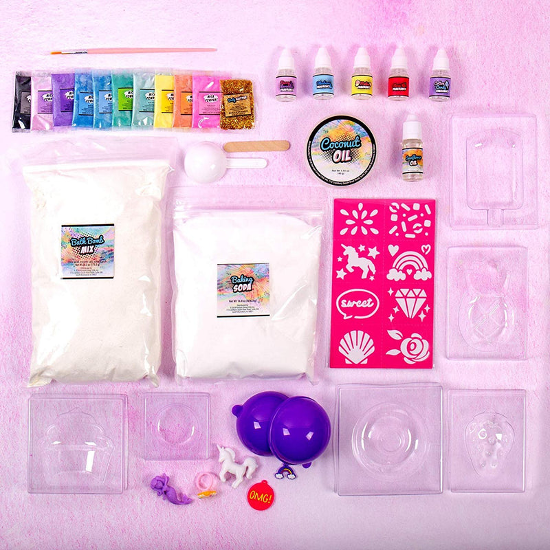 Pop Fizz Scented Surprise DIY Bath Bombs Kit Create 20 Scented Colorful Bath Bombs w/ Essential Oils