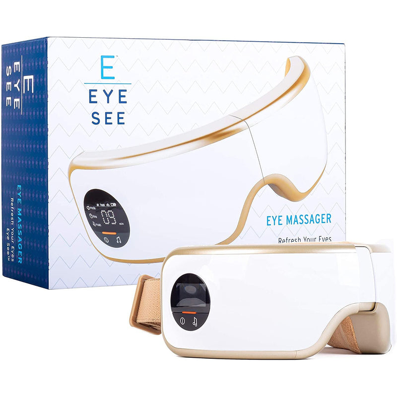 Eye See Vibrating Heated Eye Massager With Soothing Music And Adjustable Elastic Band