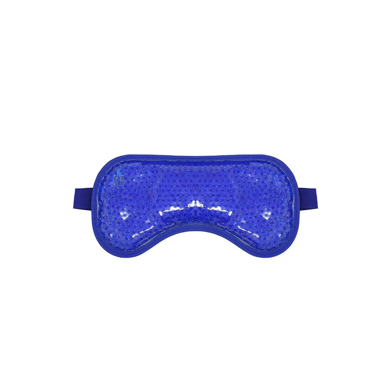 Eye See Cooling Gel Eye Mask for Puffy Eyes, Dark Circles and Allergy Relief - Blue Plush