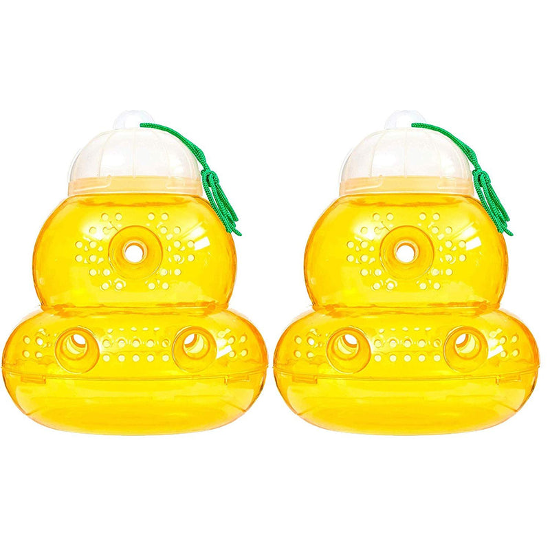 BeLu Wasp Trap Bee Traps Jar Hornet Trap Yellow Jacket Trap, Reusable Eco-Friendly Reusable, 2 Pack