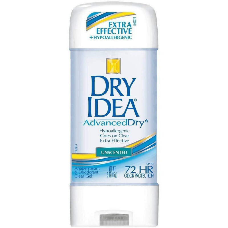 Dry Idea Advanced Dry Antiperspirant & Deodorant, Clear Gel, Unscented 3 Oz - (Pack of 3)
