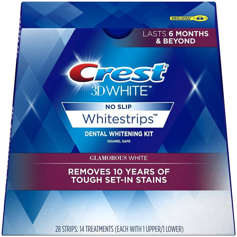 Crest 3D White Glamorous White Whitestrips, 14 Treatments,  28 Strips