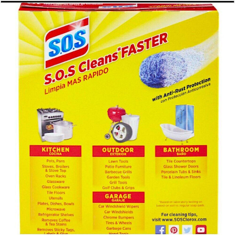 S.O.S Steel Wool Soap Multi-Use Pads Value Pack, 50 Count