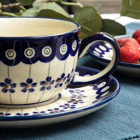 ceramic coffee tea cup from Polish pottery collection 166a