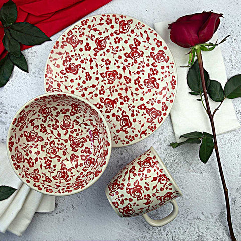 hand-decorated pottery breakfast set from collection gz32