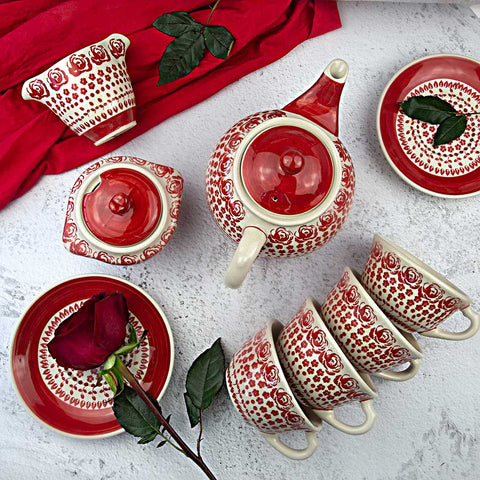 coffee tea set from roses gz33 collection