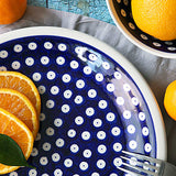 42 HAND-DECORATED BREAKFAST PLATE WITH ORANGES
