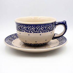 56 simplicity hand-decorated ceramic coffee tea cup with saucer