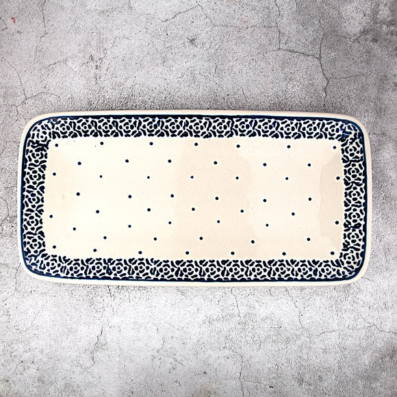 56 HAND-DECORATED RECTANGULAR PLATTER 30X20,5 CM