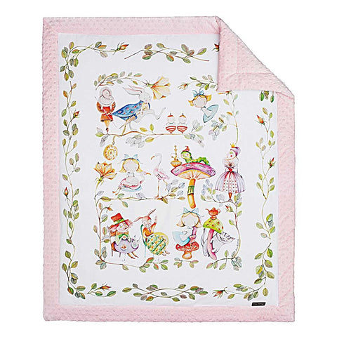 ALICE'S MAGICAL WORLD BABY QUILT - Forkandpillow