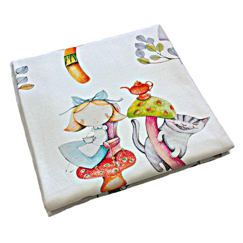ALICE'S MAGICAL WORLD BABY BLANKET SIZE 120×120 CM - Forkandpillow