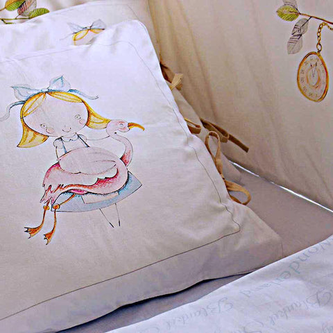 ALICE'S MAGICAL WORLD QUILT COVER AND PILLOWCASE SIZE 100×135 CM - Forkandpillow