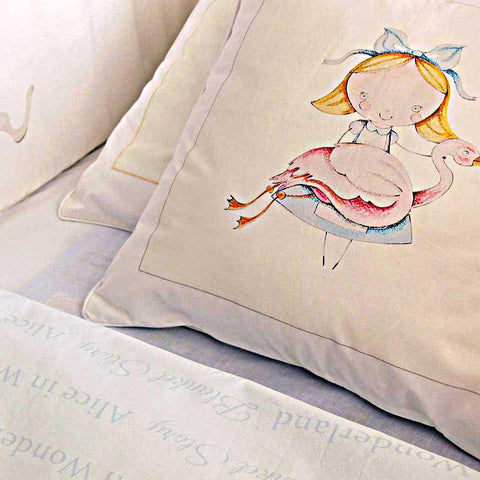 ALICE'S MAGICAL WORLD QUILT COVER AND PILLOWCASE SIZE 100×135 CM