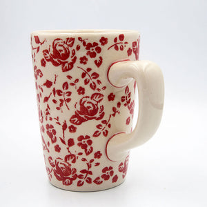gr 32 red roses collection hand decorated coffee tea mug pluto shape
